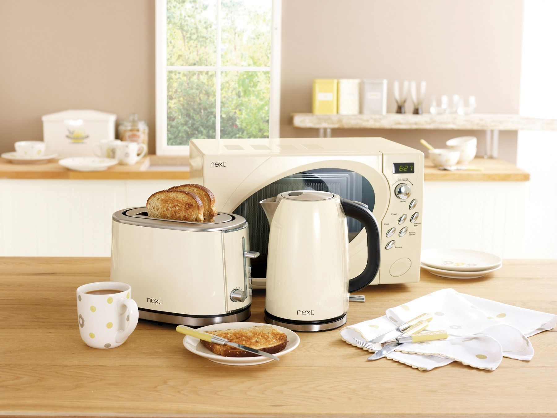 Buy Next Cream 800W Microwave from the Next UK online shop