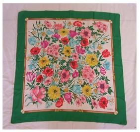 Bright and breezy fifties floral headscarf