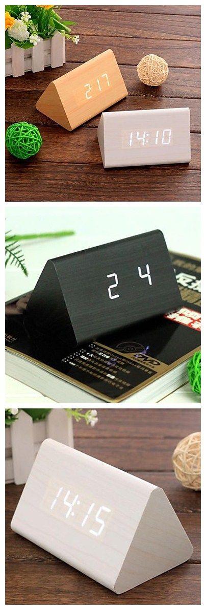 Digital Wood Alarm Clock Led Alarm Clocks Clocks And