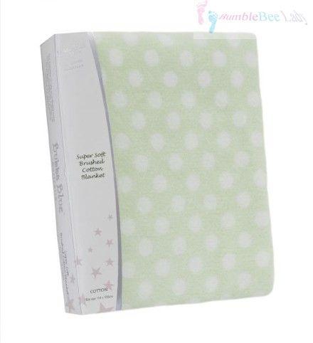 Bubba Blue Polka Dot Cot Sheet Set - Lime #babybedding #babyblanket #babyproducts