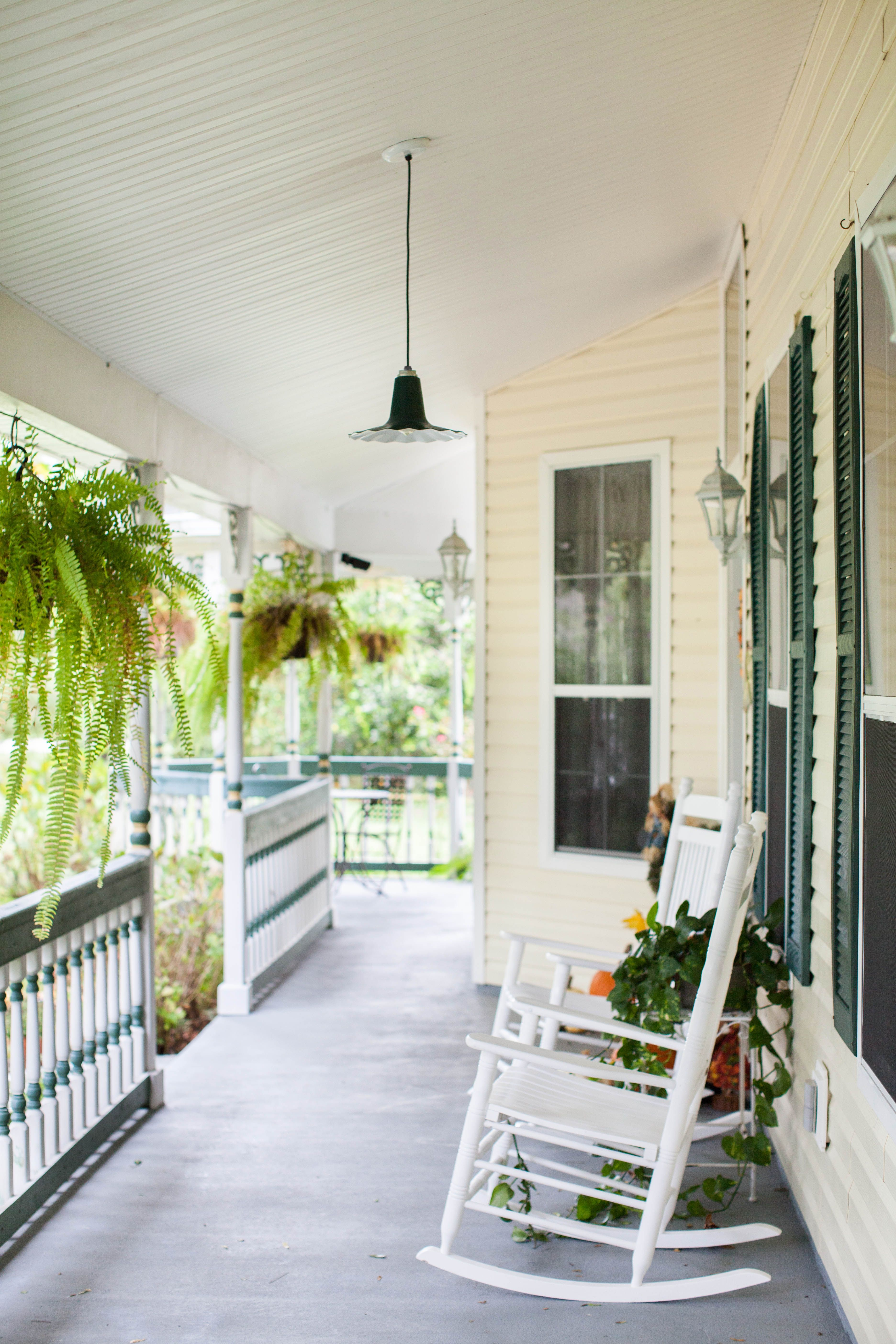 Beautiful Victorian Style home porch with a Radial Wave Pendant ...