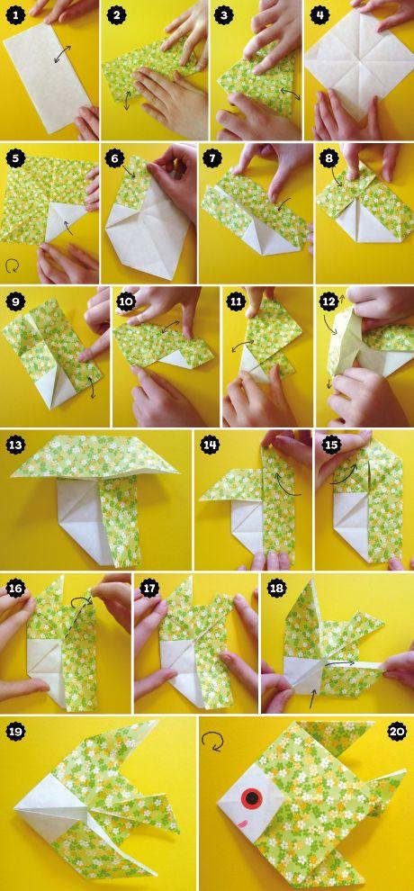Les Poissons D'Avril Origami, Un Bricolage Facile À Faire Avec Les