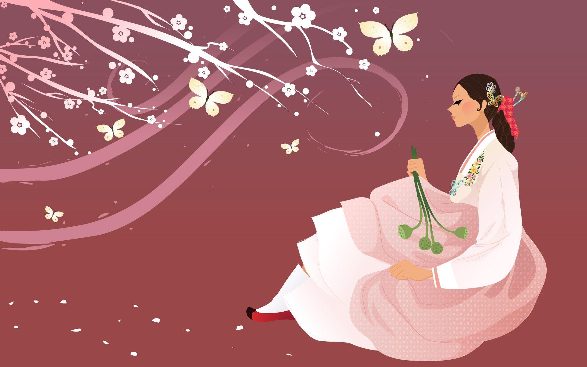 Корейская открытка, день рождения валентина