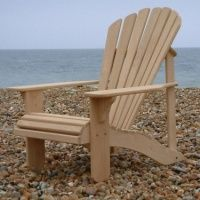 Classic Adirondack Chair In European Oak Handmade Outdoor