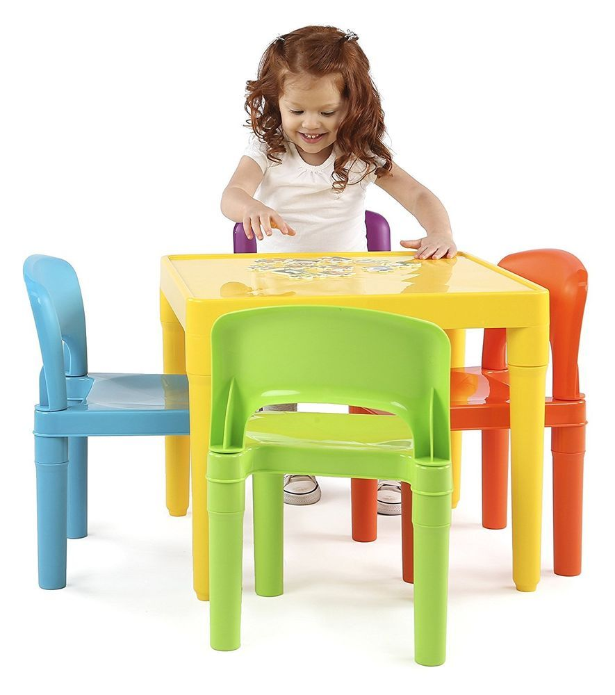 Tremendous Details About Kids Table 4 Chair Set Toddler Playroom Evergreenethics Interior Chair Design Evergreenethicsorg