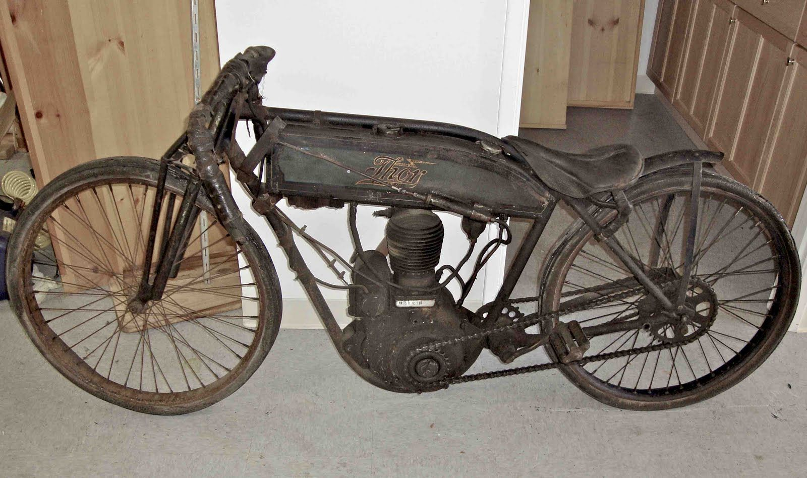 1913 Thor Board Tracker Unearthed Antique Motorcycles Antique