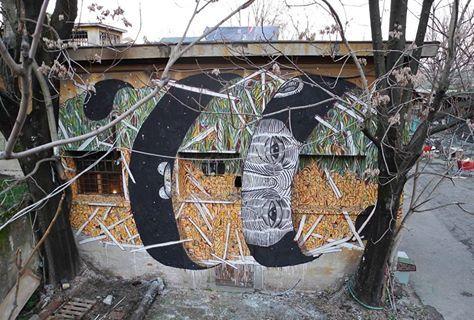 Andrea Casciu + Crisa - Italian Street Artists - Bologna (IT) - 02/2015 - |\*/| #andreacasciu #crisa