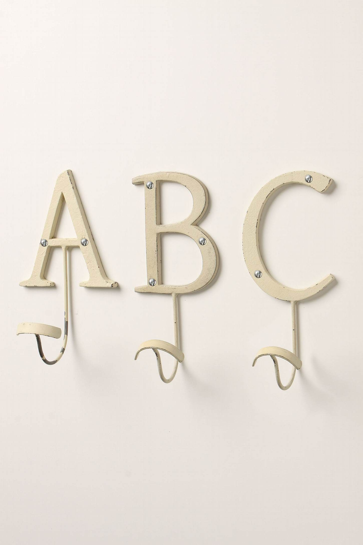 Alphabet Letter Hooks