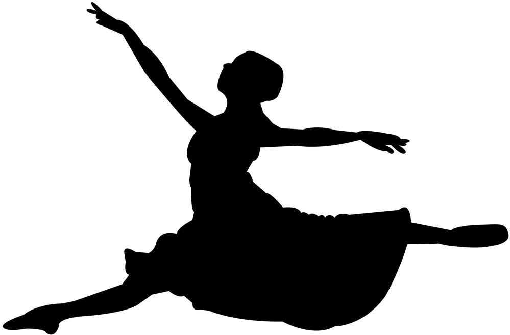 leaping dancer silhouette - Google Search | Flat line ...