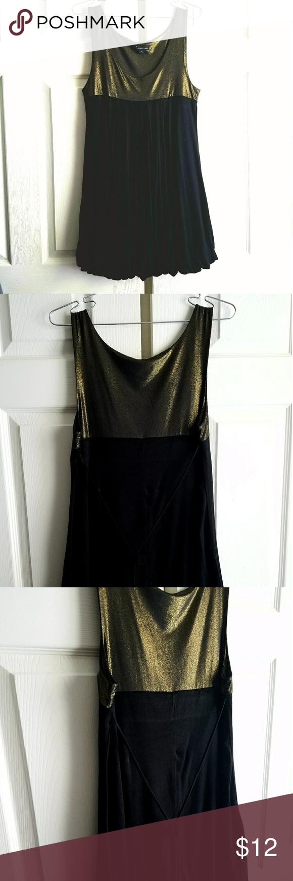 Metallic gold u black mini dress black mini dresses metallic gold