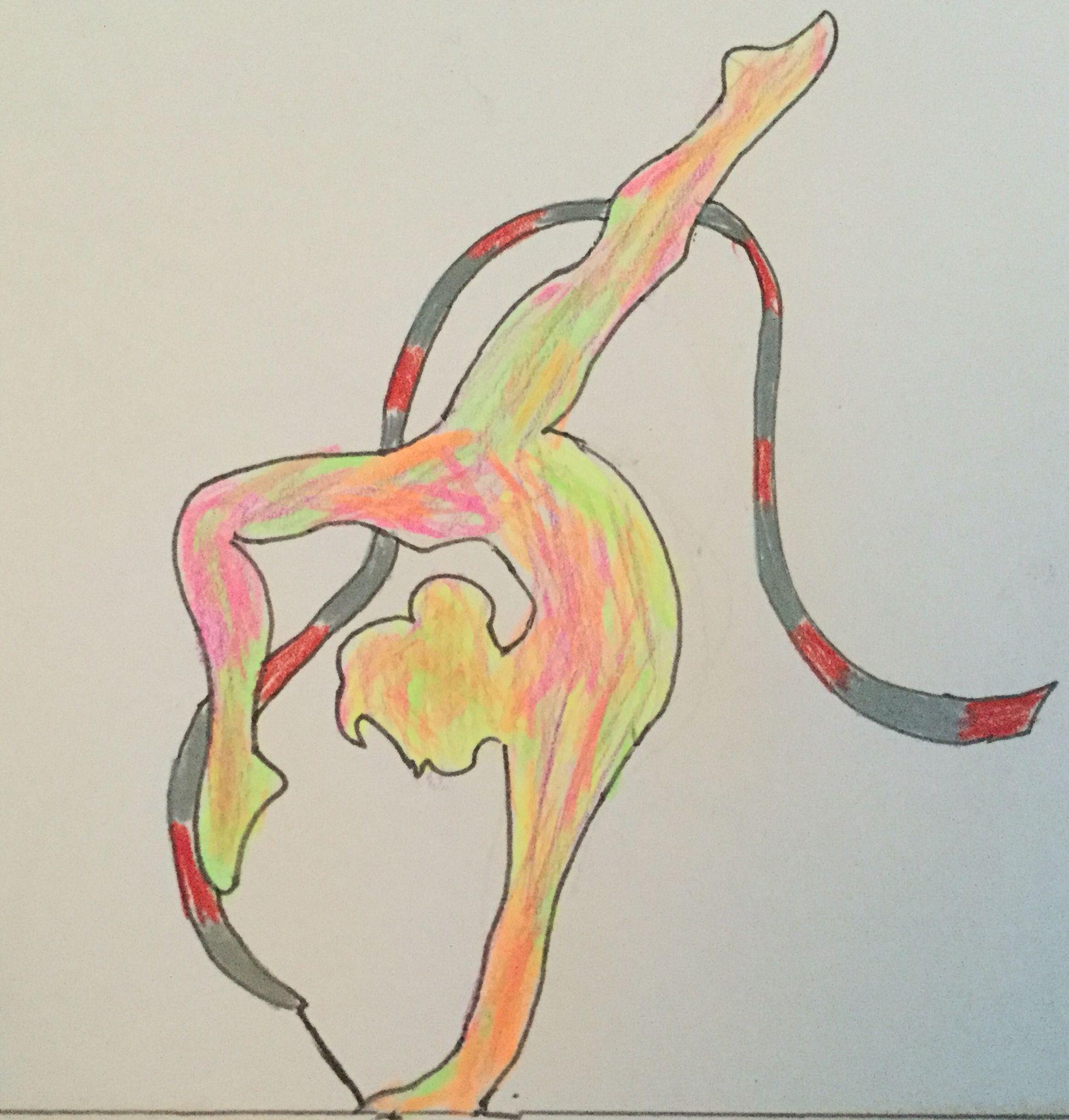 Dessin de gymnastique avec un ruban gym pinterest - Dessin de grs ...