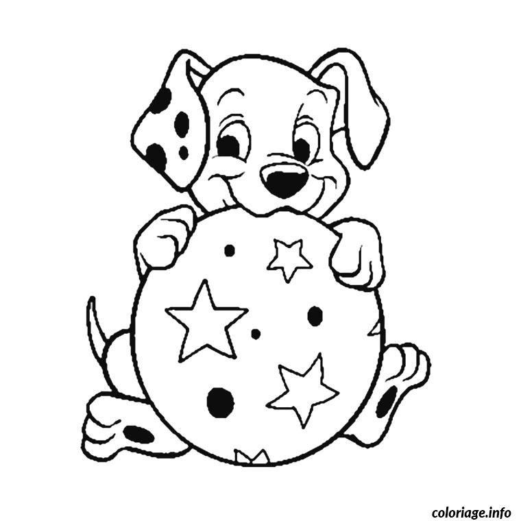 coloriage dalmatien chiot dessin à imprimer | enfants - idees