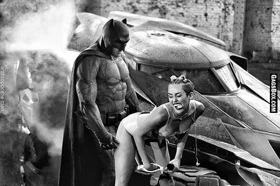 Sad Batman - Miley Cyrus Twerk - #funny, #lol, #fun, #humor, #gag, #lolpics, #funnypics,