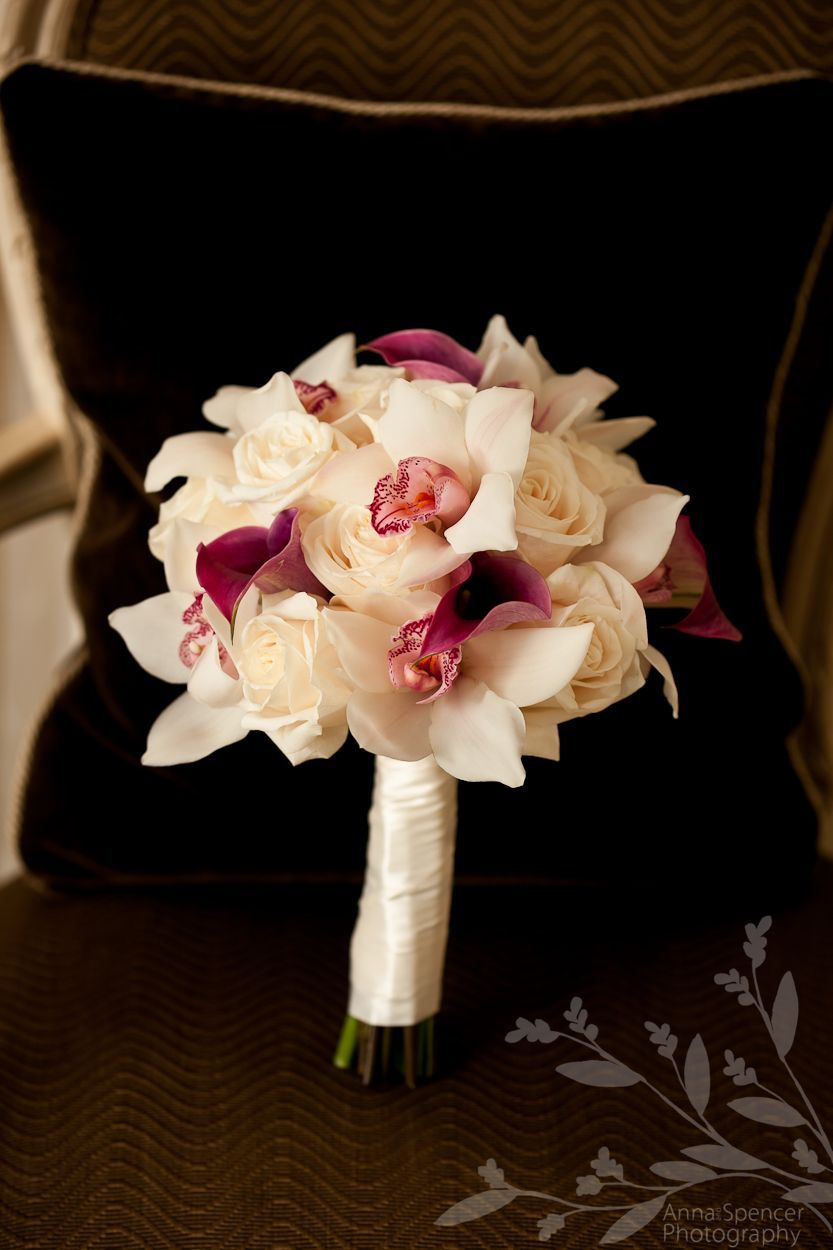 Rose calla lily orchid bouquettake out the rose and add babyus
