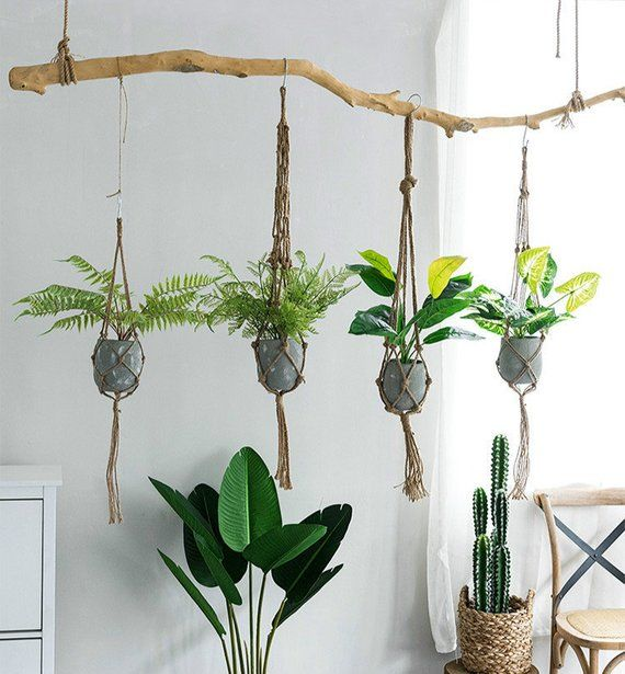 Simple Hanging Planter Hanging Plant Holder Macrame Plant Hanging Plants Indoor Hanging Plants Diy Hanging Plants