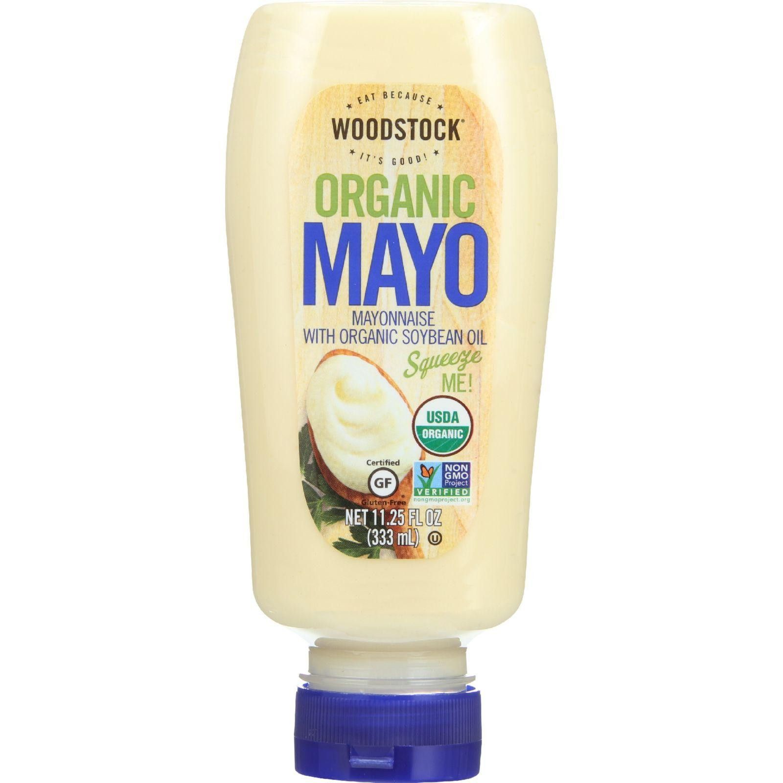 Woodstock Mayonnaise - Organic - With Organic Soybean Oil - Squeezable - 11.25 Oz - Case Of 12  #inspiredbeacon #organic #love  #GlutenFree #Kosher #95%+Organic #SoupsAndSauces #FoodBeverages