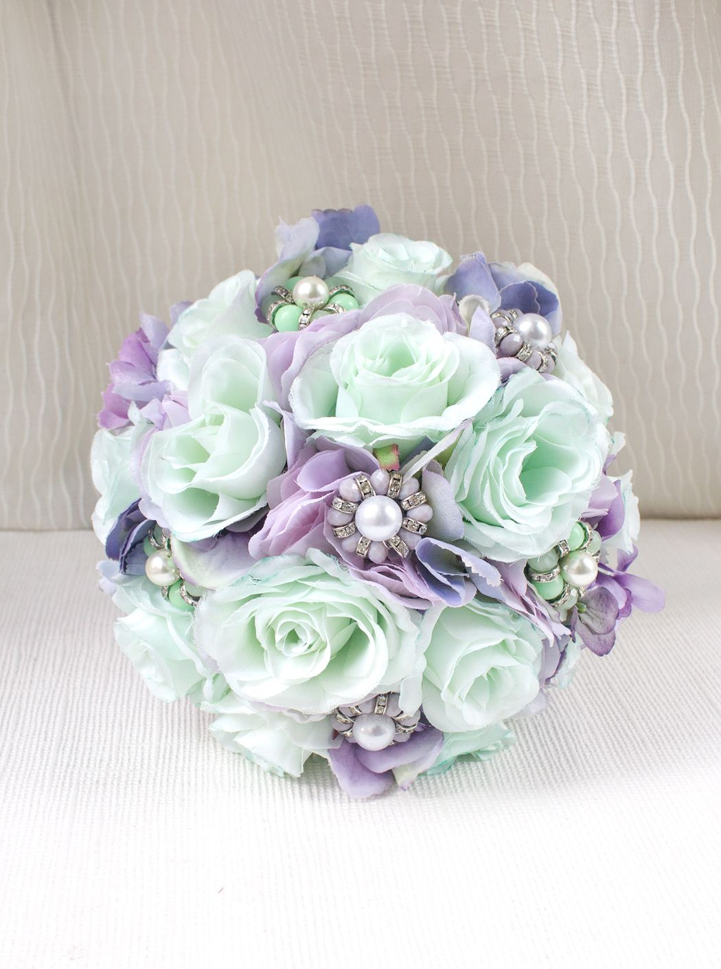 Mint lavender flower bridal bouquet all bouquets are handcrafted mint lavender flower bridal bouquet all bouquets are handcrafted in new york city and izmirmasajfo Choice Image