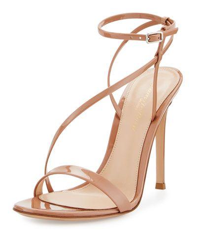 66e473828ab7d S0SSF Gianvito Rossi Carlyle Patent Strappy 105mm Sandal