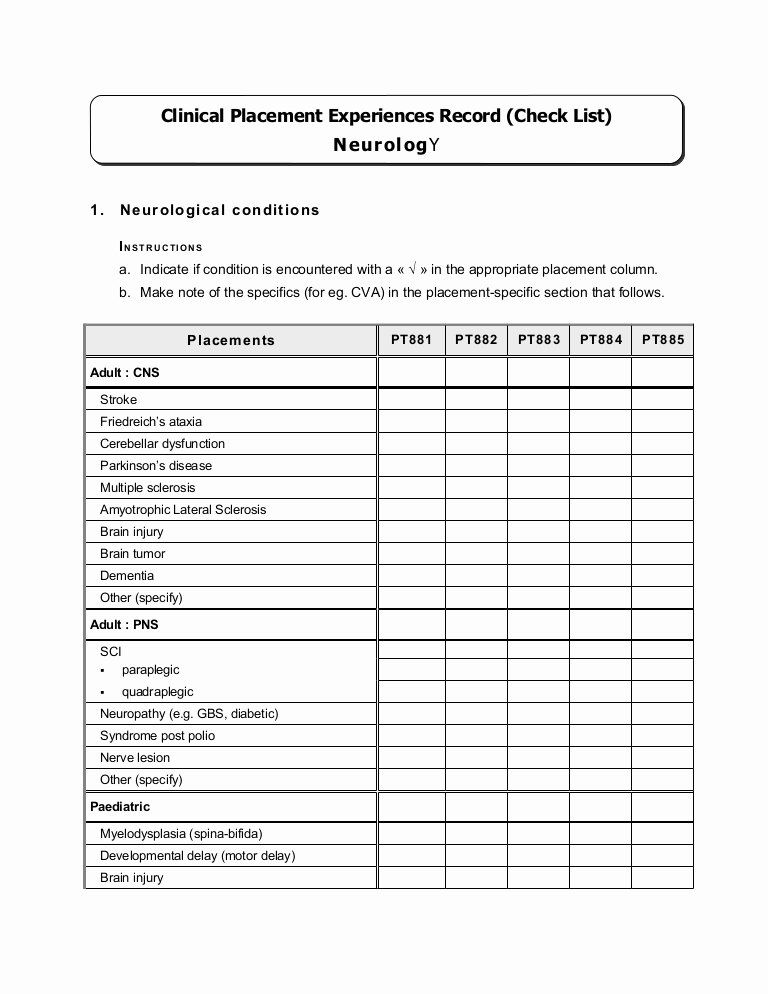 Nursing Competency Assessment Template Luxury Petency Checklist Neurological Job Application Template Application Letter Template Statement Template
