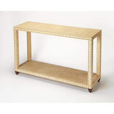 Cream Console Table butler danilo cream raffia console table | cream, console tables
