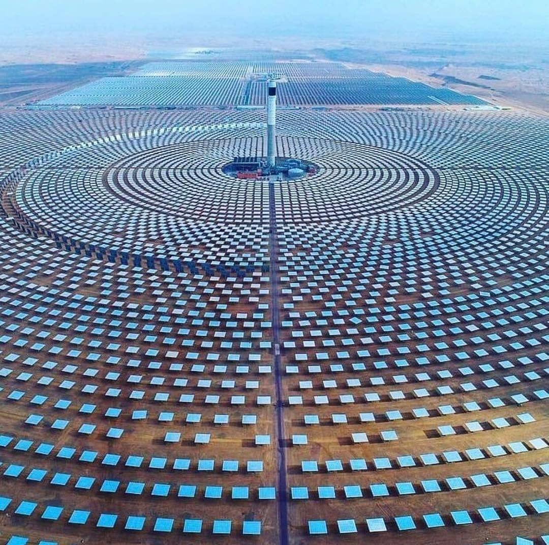 Ouarzazate Solar Power Station In Marocco Solar Power Station Thermal Power Plant Solar Thermal