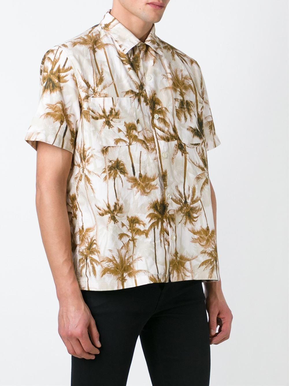 fc233a46 Saint laurent palm tree print shirt men clothing,yves saint laurent ...