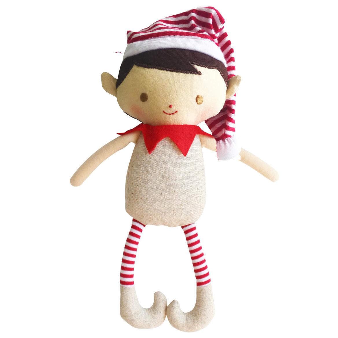 Elf Rattle Linen, Boy Girl elf, Christmas toys, Elf