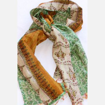 Aahna Vintage Sari Scarf  by Filling Spaces