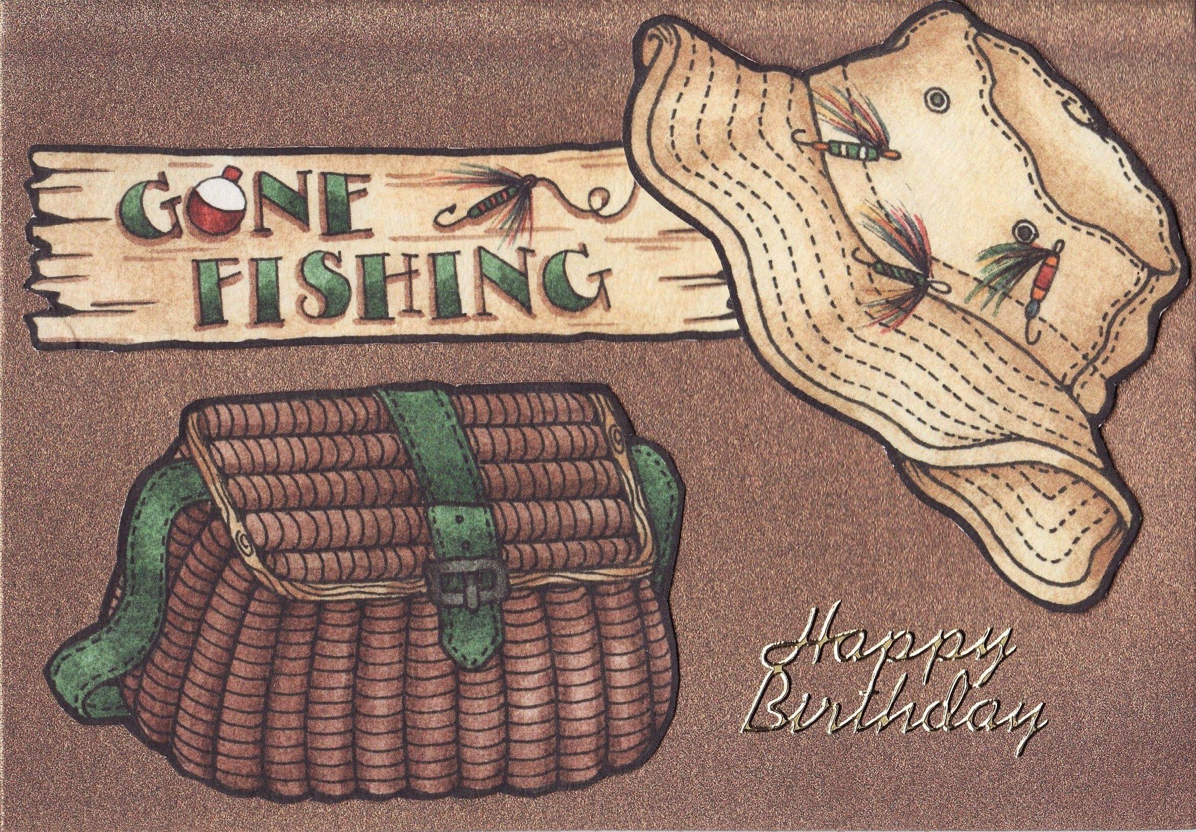 Gone Fishing Birthday Card Happy Birthday Man Fishing Birthday Cards Happy Birthday Google