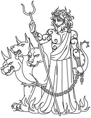 Greek Gods Hades Image With Images Art Pages Greek Gods