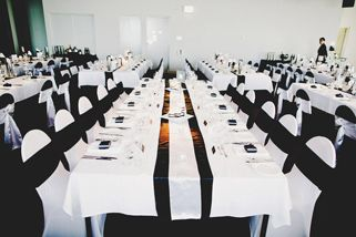 Graphic Black White Wedding Decor