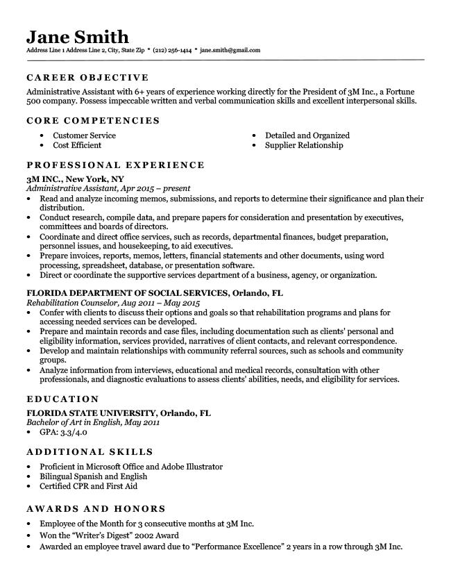 expert preferred resume templates