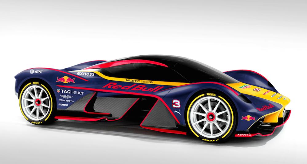 Aston Martin Am Rb 001 Looks Better In Red Bull Colors Motorward