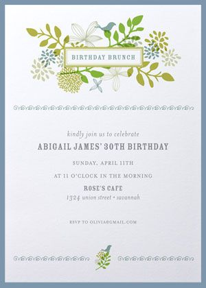 brunch invitations. bridal brunch bridal shower bridesmaids brunch, Birthday invitations