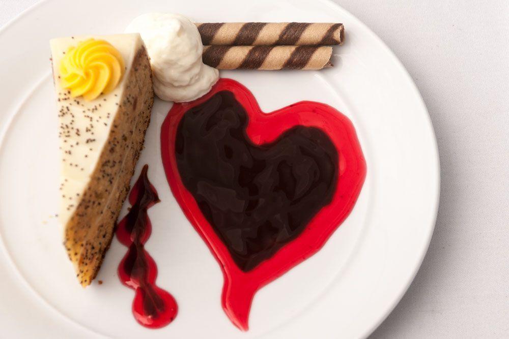 Cake, Chocolate Sauce, Ice Cream