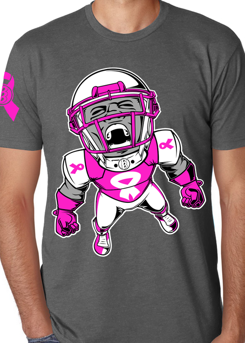 team pink tee nfl football player t shirt a portion of proceeds donated