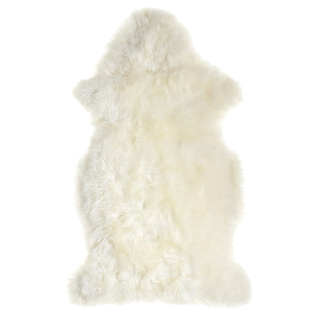 Faux Sheepskin Rug Australia White Throw Natural Baby