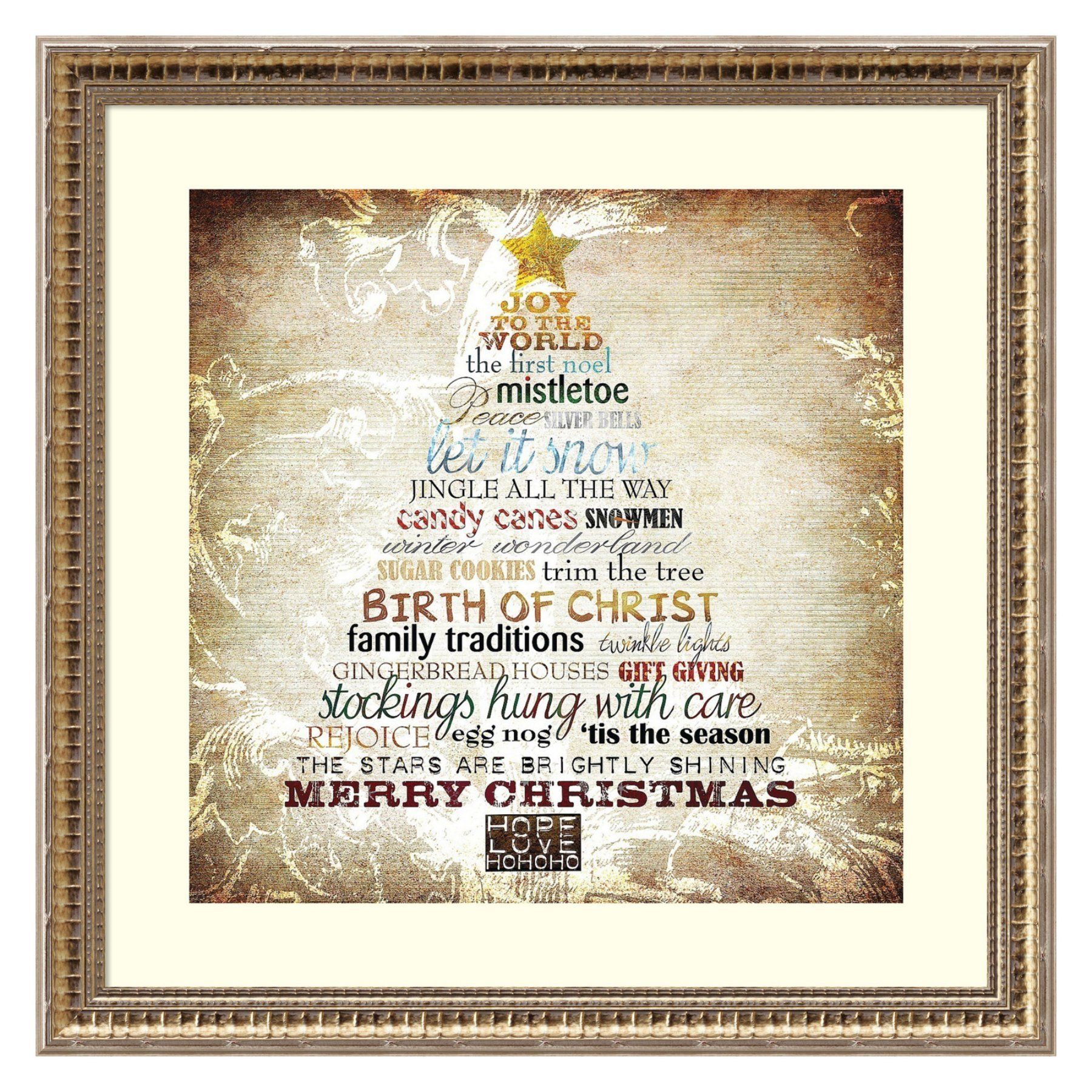 Amanti Art Christmas Tree Subway Framed Wall Art by Sally Barlow ...