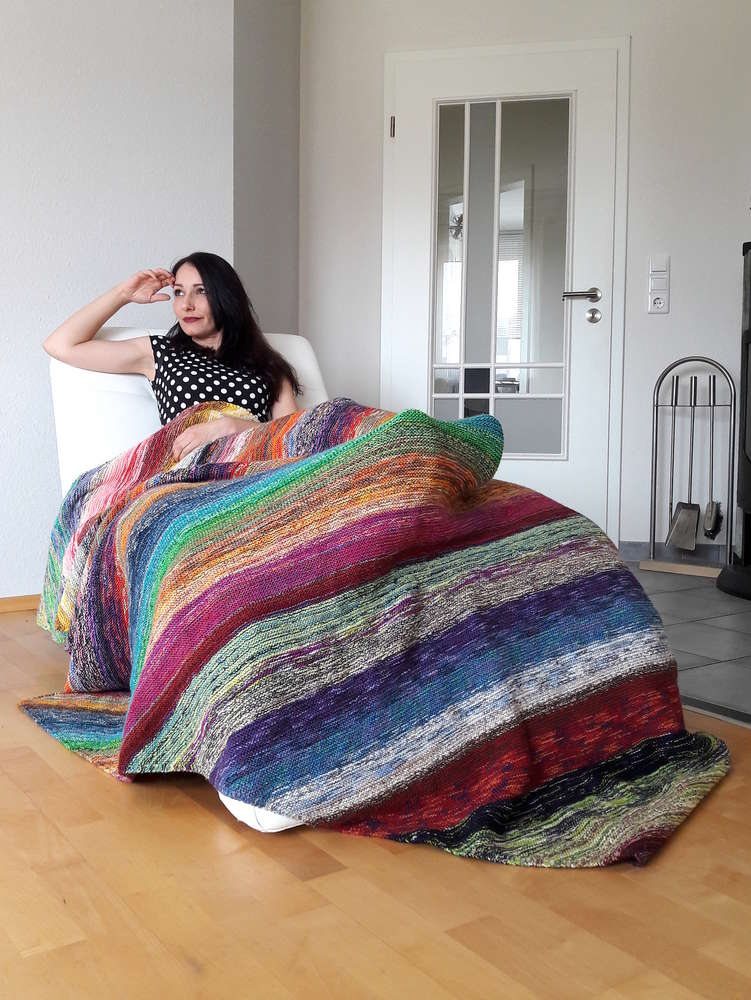 Happy Scrappy Blanket in 2020 | Decke stricken anleitung ...