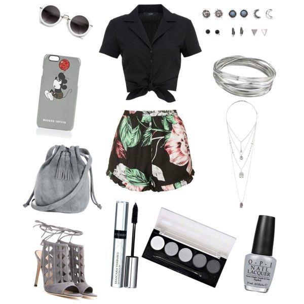 outfit day by xxfrozengirlxx on Polyvore featuring polyvore fashion style Hallhuber Topshop Gianvito Rossi Warehouse Whistles Miss Selfridge With Love From CA Markus Lupfer By Terry OPI