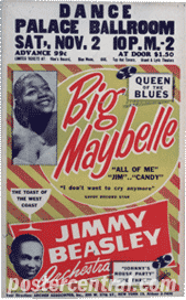 Big Maybelle concert poster