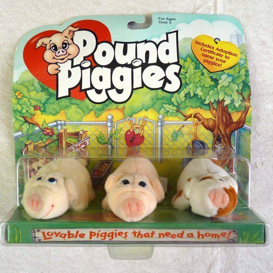 Pound Piggies Rare Vintage Pound Puppies Pigs Miniatures 1997 New