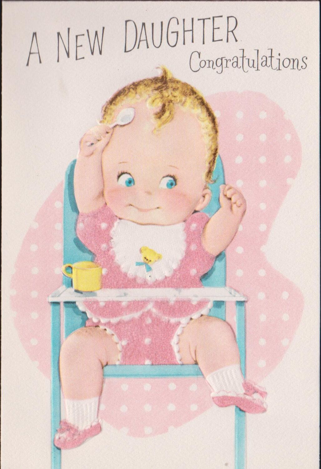 Vintage baby girl congratulations greeting by vintagerecycling vintage baby girl congratulations greeting by vintagerecycling kristyandbryce Image collections
