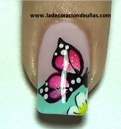 M s de 25 ideas incre bles sobre u as con mariposas en - Disenos de unas con mariposas faciles ...
