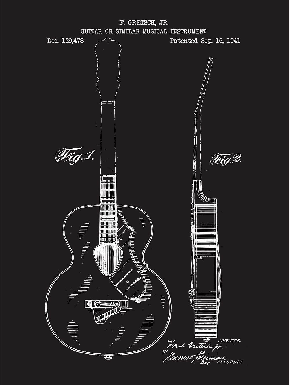 Gretsch Guitar - F. Gretsh Jr - 1941 | Gretsch Guitars | Pinterest ...