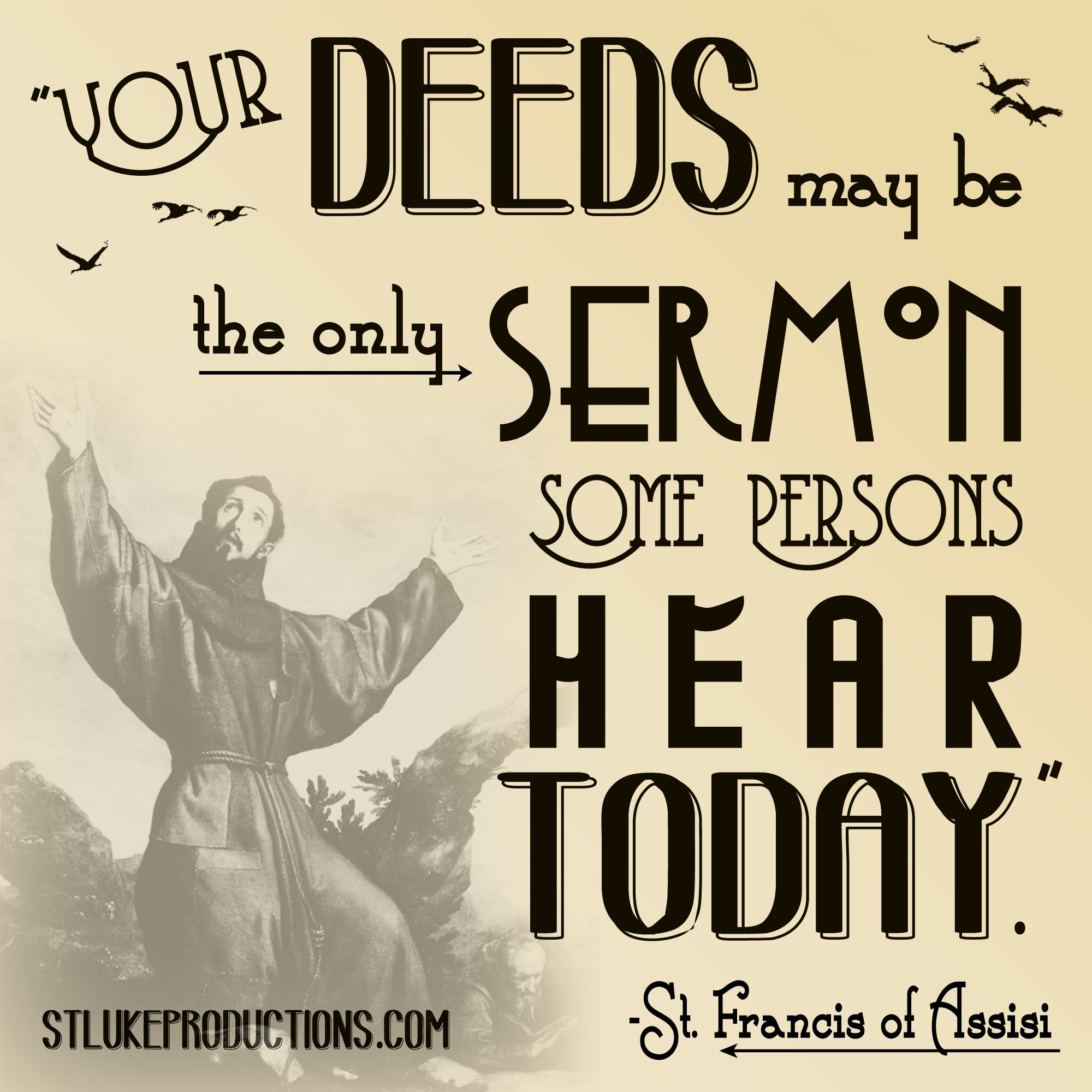St Francis Of Assisi Quotes Francis Troubadour Of Peace Was Slp's 2Nd Live Drama Ever Produced .