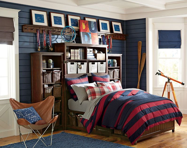Teenage Guys Bedroom Ideas | Manchester United | PBteen ... on Teenage Room Colors For Guys  id=42407