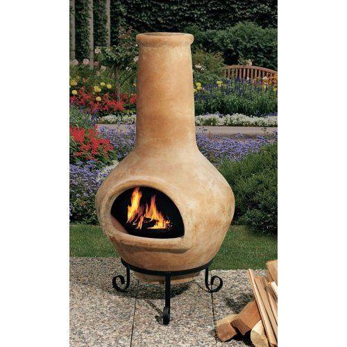 Amazon Com Mexican Chiminea Clay Fire Pit Backyard Fireplace Chiminea