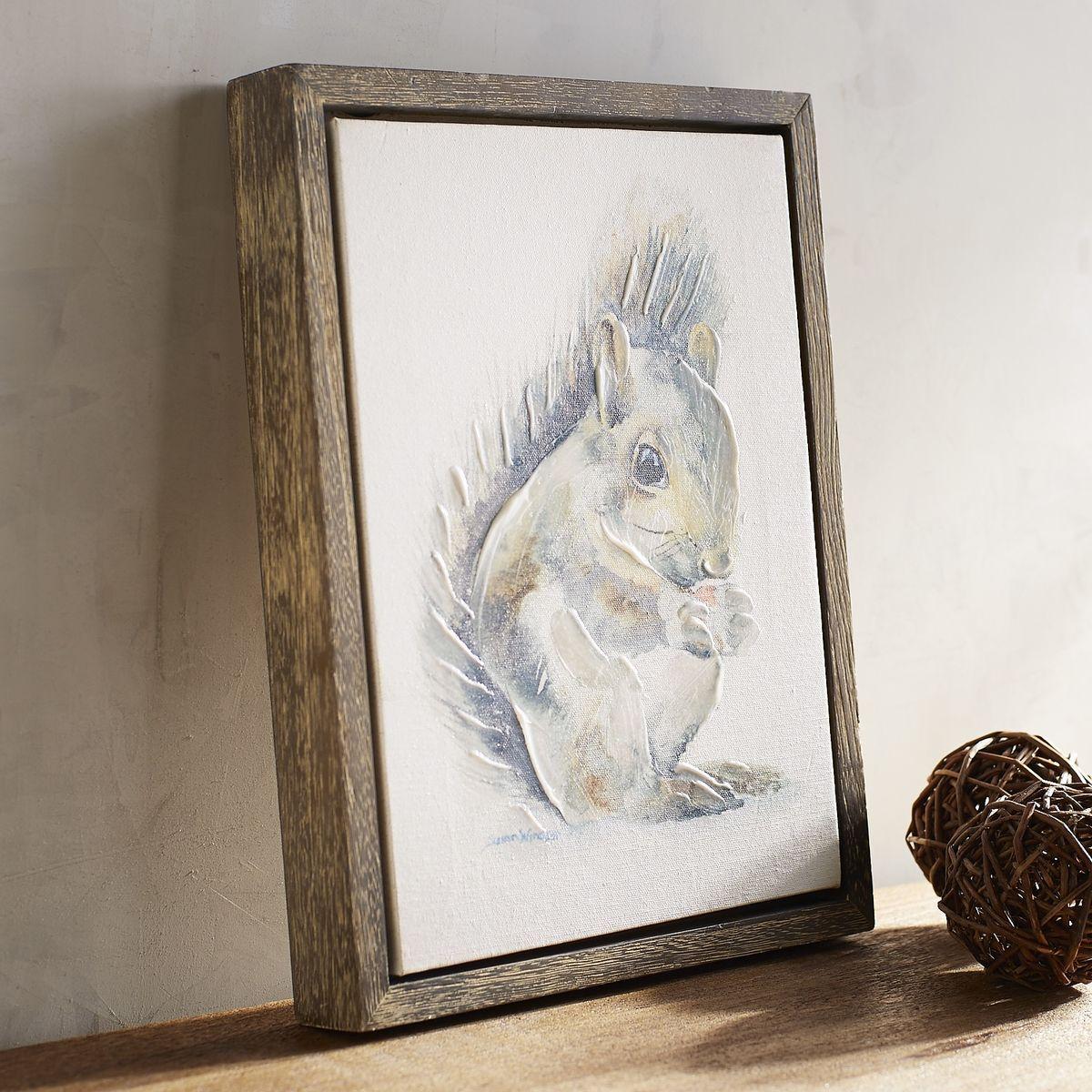 Squirrel Art   Pier 1 Imports   nursery   Pinterest