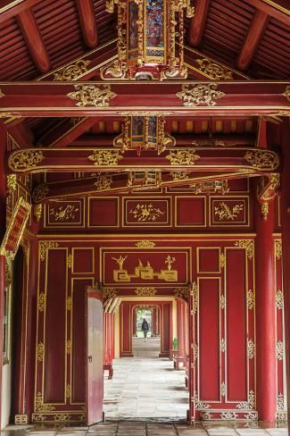 Wooden Covered Walkways In The Hue Imperial City Citadel Unesco World Heritage Site Vietnam In Photographic Print Alex Robinson Art Com In 2021 Covered Walkway World Heritage Sites Unesco World Heritage Site